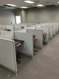 Used call center cubicles