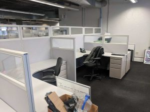 Used Office Cubicle with glass walls