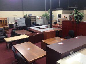 Used office furniture showroom