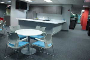 Strive Breakroom with Global Swap Table and Duet Chairs