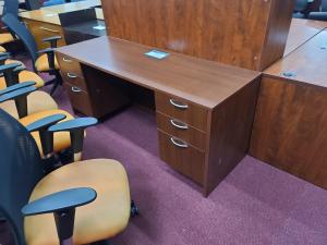"66 x 24"" Straight Desk w/2 File Pedestals"