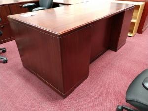 Wood Veneer U Shape Desk