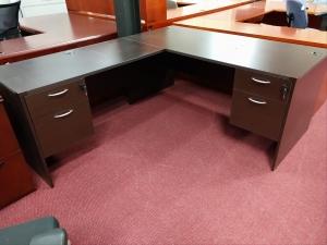 Mocha L Shape Desk