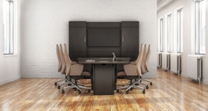 JSI Bravado Conference Table with Media Wall