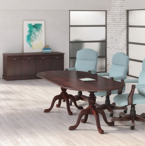 JSI Brogan Traditional Conference Table with Cabriole Bases