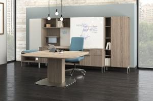 JSI Flux Adjustable Height Table Desk Set