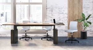 JSI Native Height Adjustable Conference Table