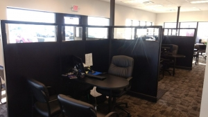 Car dealership cubicle