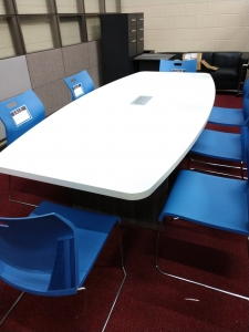 White Modern 8 Foot Conference Table
