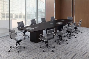 Conference Table with Cube Bases