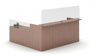 Reception desk dividers